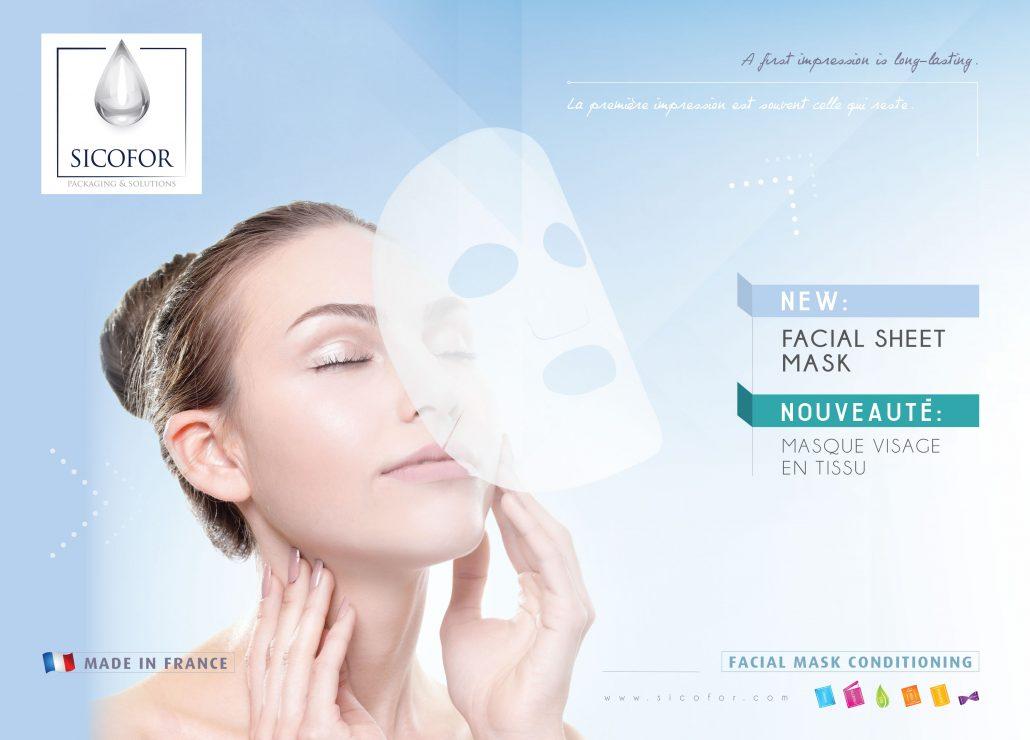 masque facial tissu